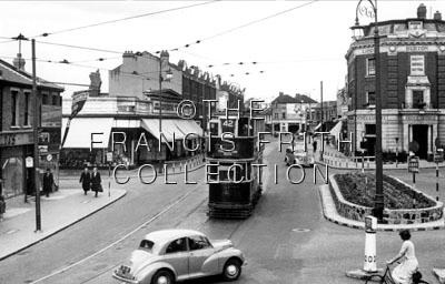 Thornton Heath, High Street c1950, Surrey